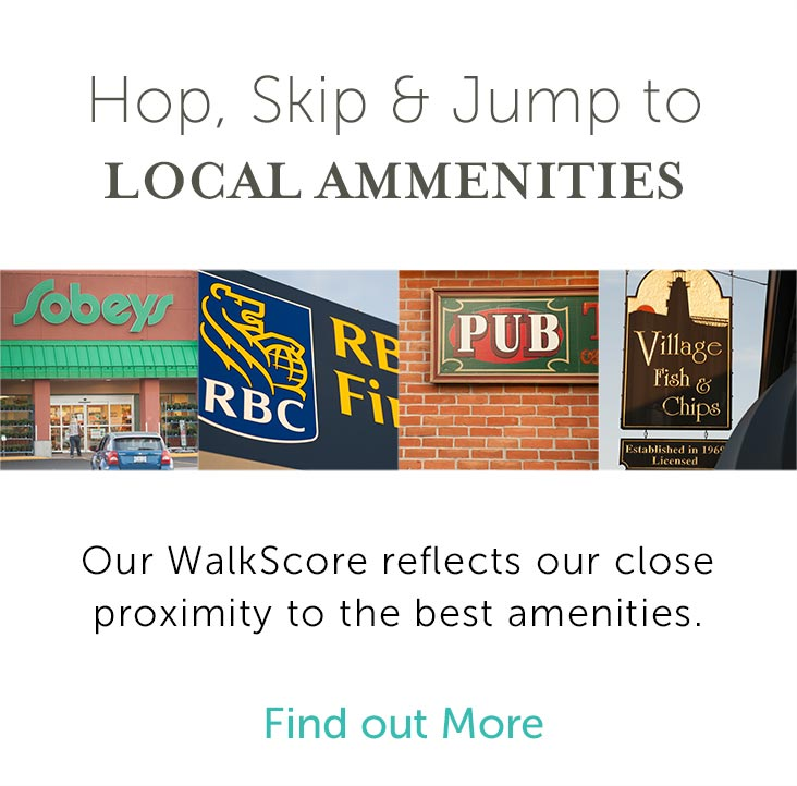 Hop, skip & jump to local ammenities